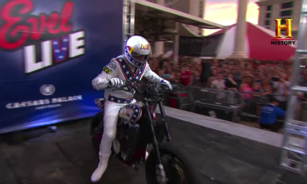 Travis Pastrana recreates Evel Knievel's Jumps